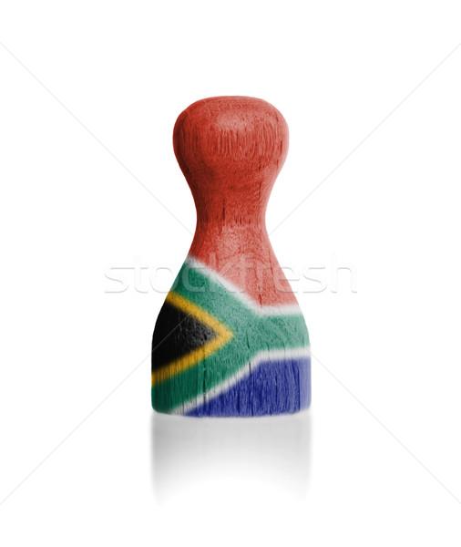 Ahşap Bayrak Boyama Güney Afrika Boya Stok Fotoğraf