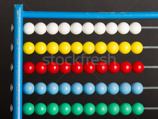 Close-up of an abacus on a grey background Stock photo © michaklootwijk