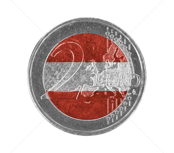 Stock photo: Euro coin, 2 euro