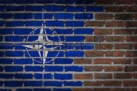 Dark brick wall - LGBT rights - NATO Stock photo © michaklootwijk