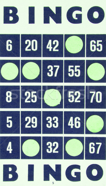 Stock photo: Blue bingo card isolated