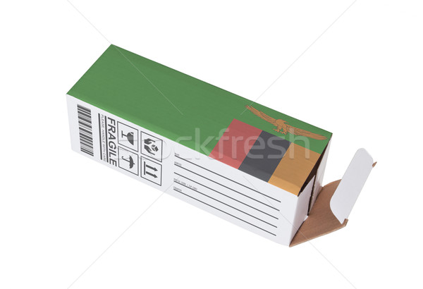 Ihracat ürün Zambiya kâğıt kutu Stok fotoğraf © michaklootwijk