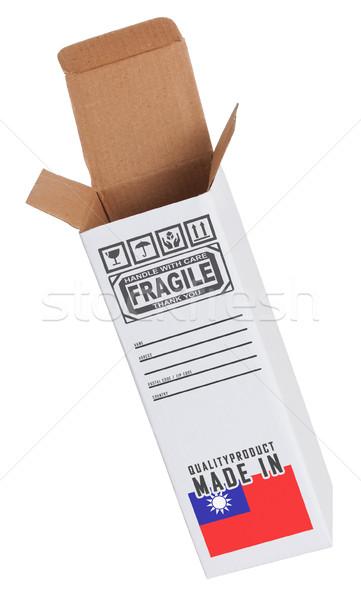 Exportar produto Taiwan papel caixa Foto stock © michaklootwijk