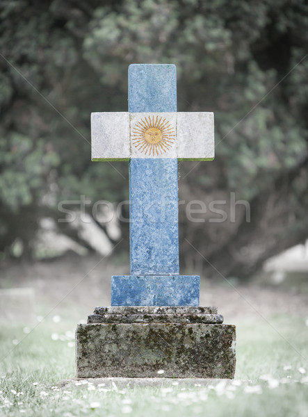 Gravestone in the cemetery - Argentina Stock photo © michaklootwijk