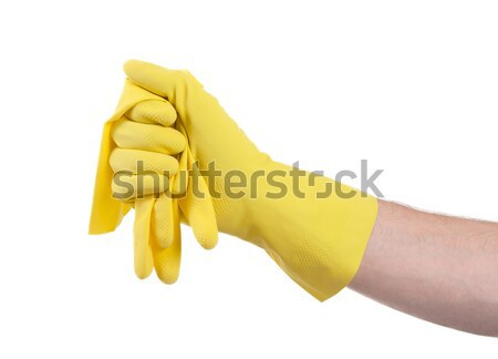 Hand in rubber glove, ready for cleaning Stock photo © michaklootwijk