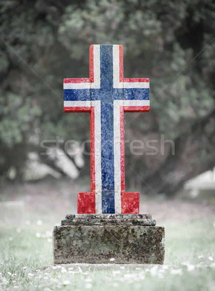 Pierre tombale cimetière Norvège vieux patiné pavillon Photo stock © michaklootwijk