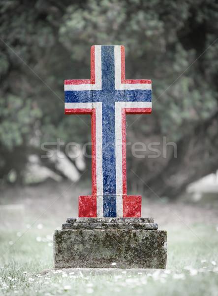 Gravestone in the cemetery - Norway Stock photo © michaklootwijk