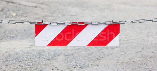 Red forbidden access sign Stock photo © michaklootwijk