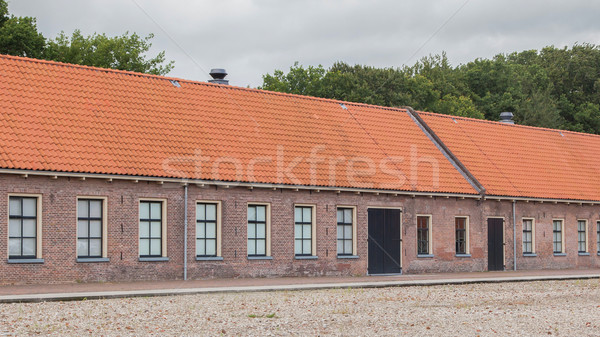 Old red roof  Stock photo © michaklootwijk