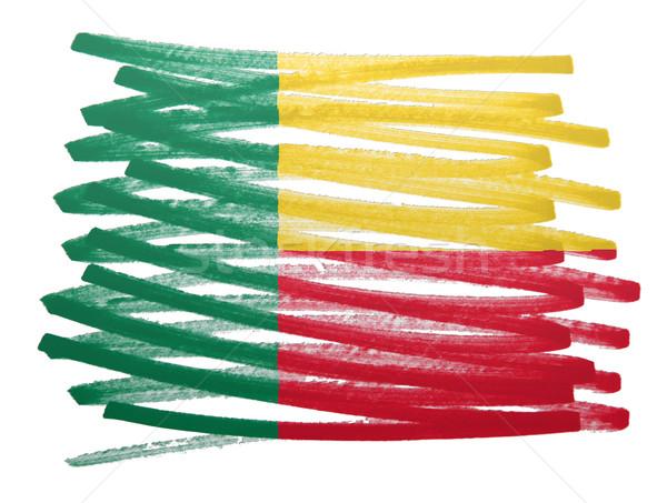 Bandiera illustrazione Benin pen business vernice Foto d'archivio © michaklootwijk