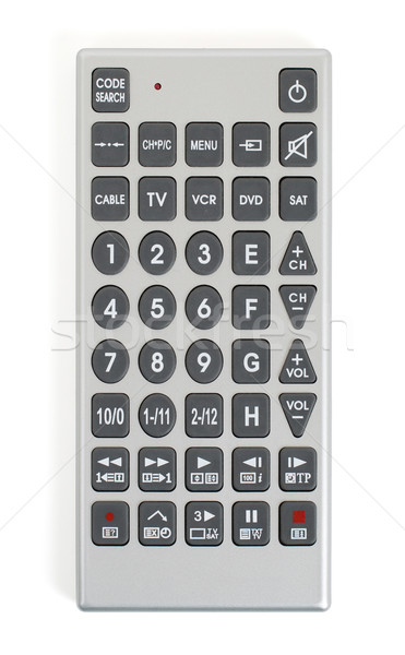 öreg távirányító tv izolált fehér televízió Stock fotó © michaklootwijk