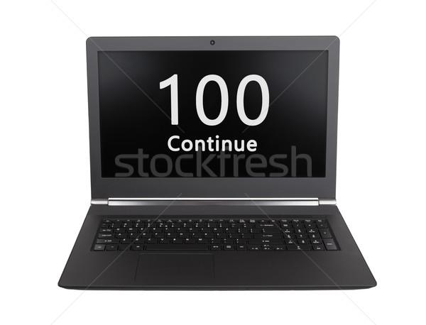 Http statut code 100 portable écran Photo stock © michaklootwijk