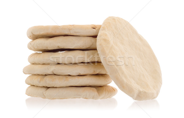 Israelense pão pita isolado branco comida Foto stock © michaklootwijk
