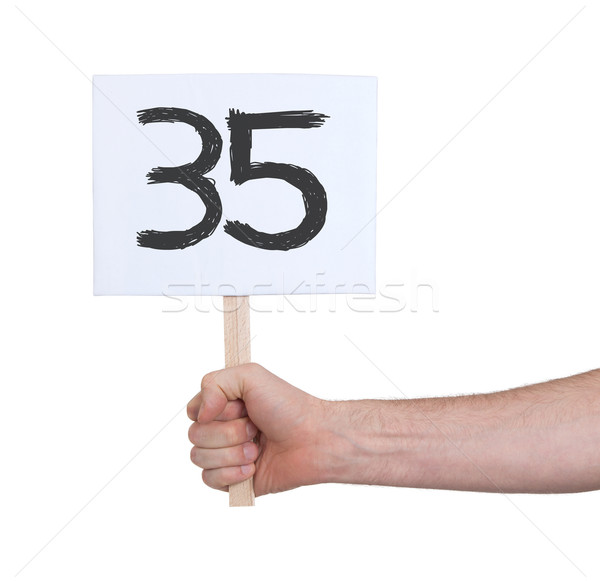 Sign with a number, 35 Stock photo © michaklootwijk