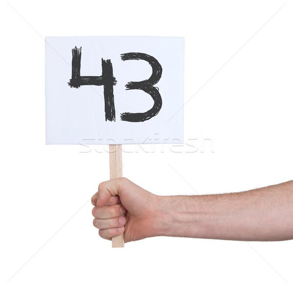 Sign with a number, 43 Stock photo © michaklootwijk