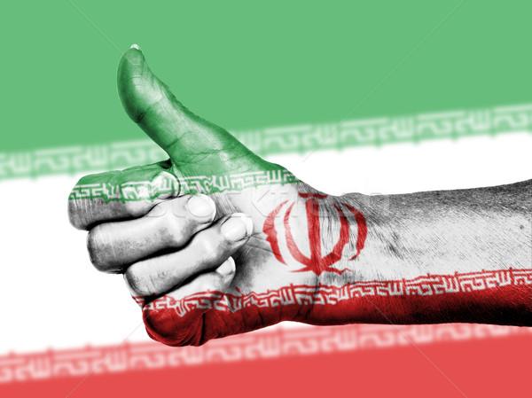 старуху знак флаг шаблон Иран Сток-фото © michaklootwijk