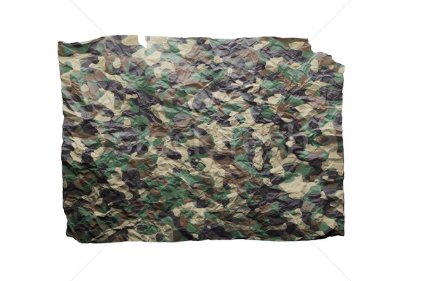 Camouflaged wrinkled paper isolated Stock photo © michaklootwijk
