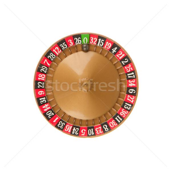 Utilizado rueda de la ruleta pelota edad juego dinero Foto stock © michaklootwijk
