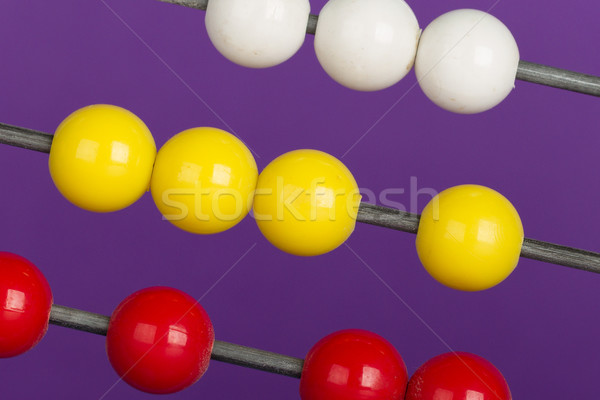 Close-up of an abacus on a purple background Stock photo © michaklootwijk