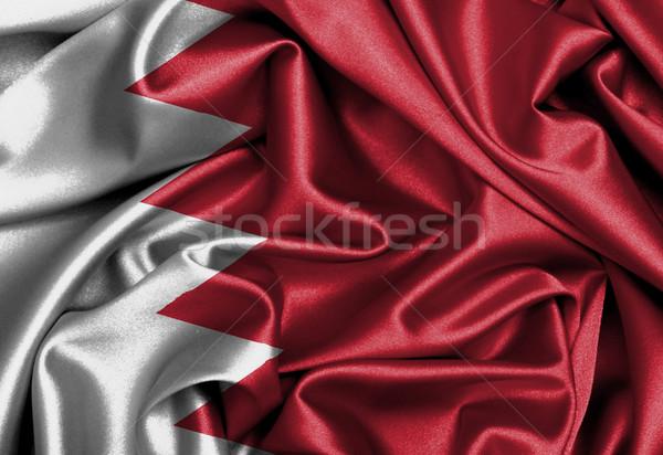 Raso bandera impreso Bahréin textura diseno Foto stock © michaklootwijk