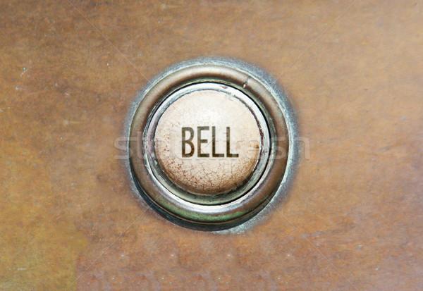 Vieux bouton cloche grunge image rouge Photo stock © michaklootwijk