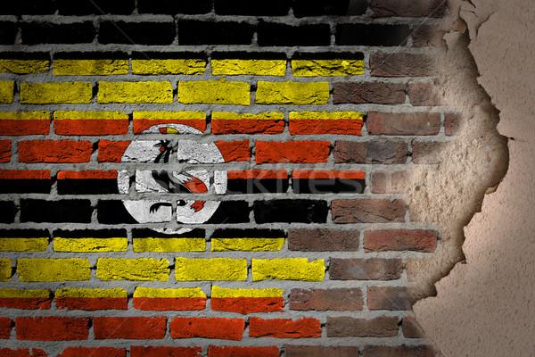 Sombre mur de briques plâtre Ouganda texture pavillon Photo stock © michaklootwijk