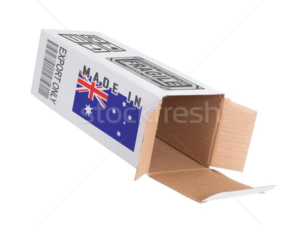 Export termék Ausztrália kinyitott papír doboz Stock fotó © michaklootwijk