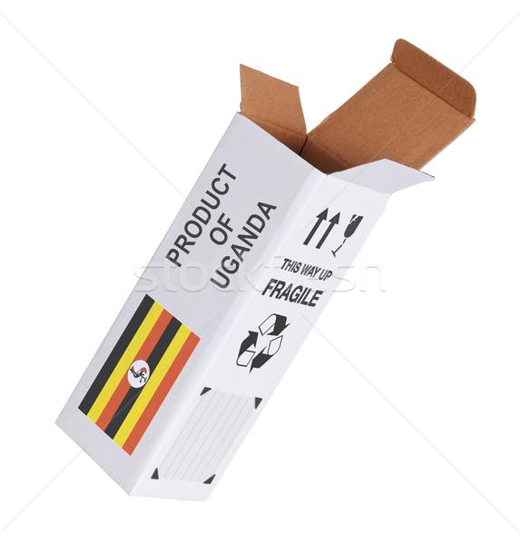Esportazione prodotto Uganda carta finestra Foto d'archivio © michaklootwijk