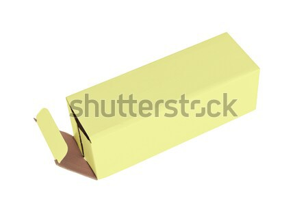 Yellow cardboard box on a white background Stock photo © michaklootwijk