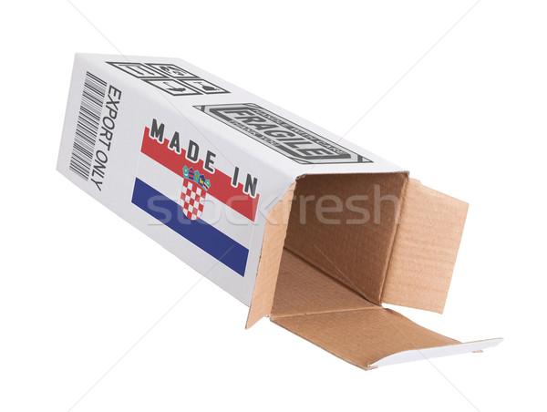 экспорт продукт Хорватия бумаги окна Сток-фото © michaklootwijk