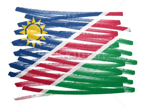 Bayrak örnek Namibya kalem dizayn sanat Stok fotoğraf © michaklootwijk