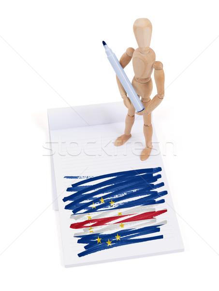 Manekin rysunek banderą ciało pióro Zdjęcia stock © michaklootwijk
