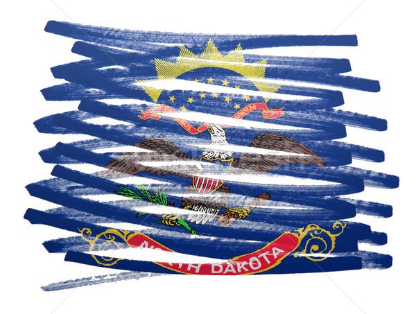 Bayrak örnek Kuzey Dakota kalem iş boya Stok fotoğraf © michaklootwijk