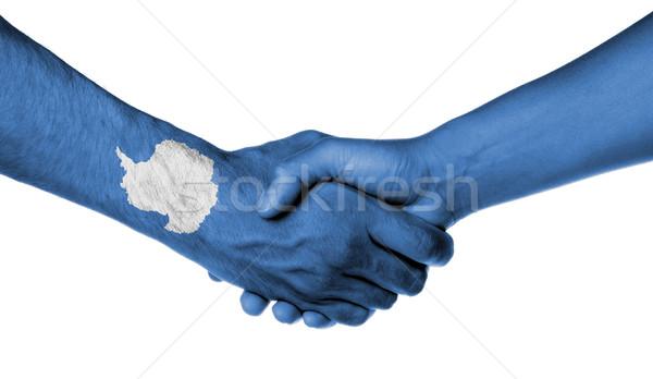 Man and woman shaking hands Stock photo © michaklootwijk