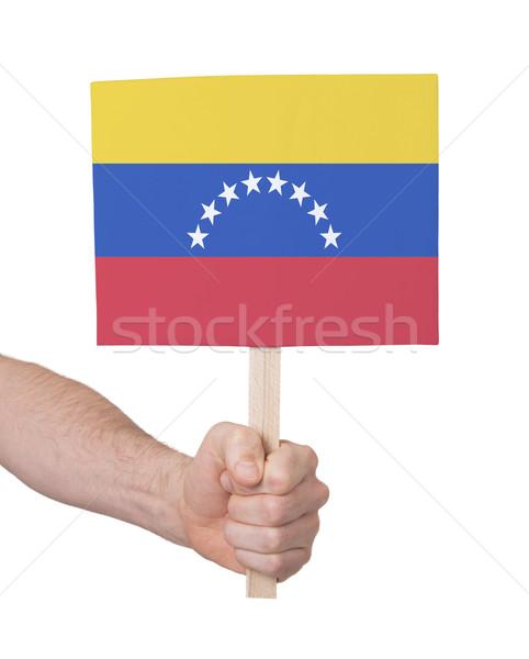Hand klein kaart vlag Venezuela Stockfoto © michaklootwijk