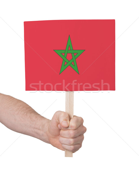 Mano pequeño tarjeta bandera Marruecos Foto stock © michaklootwijk