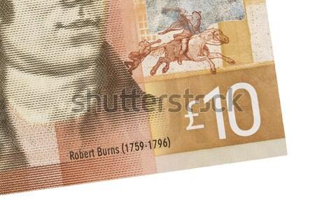 10 kan yalıtılmış beyaz para Stok fotoğraf © michaklootwijk