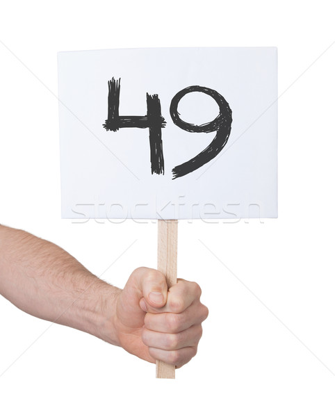 Sign with a number, 49 Stock photo © michaklootwijk