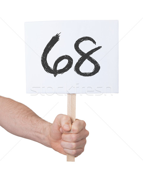 Sign with a number, 68 Stock photo © michaklootwijk