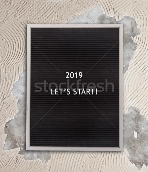 Very old menu board - New year - 2019 Stock photo © michaklootwijk