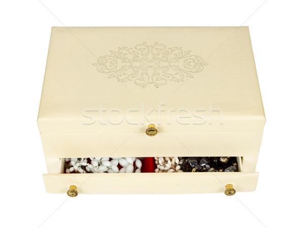 White jewelry box isolated Stock photo © michaklootwijk
