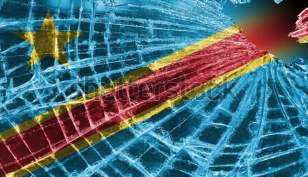 Cacos de vidro gelo bandeira Bolívia isolado vidro Foto stock © michaklootwijk