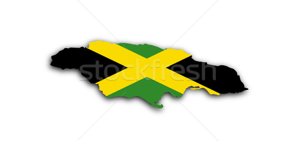 Nigéria mapa bandeira dentro isolado branco Foto stock © michaklootwijk