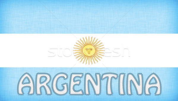 Flag of Argentina stitched with letters Stock photo © michaklootwijk