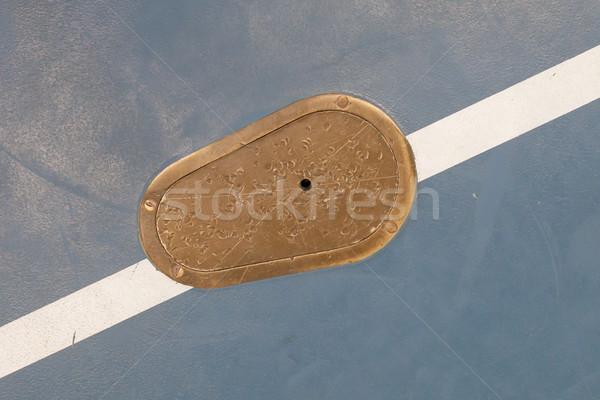 Cast iron manhole Stock photo © michaklootwijk