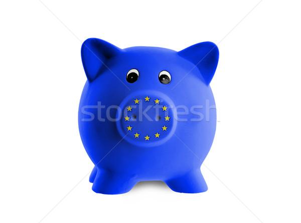 Unique pink ceramic piggy bank Stock photo © michaklootwijk