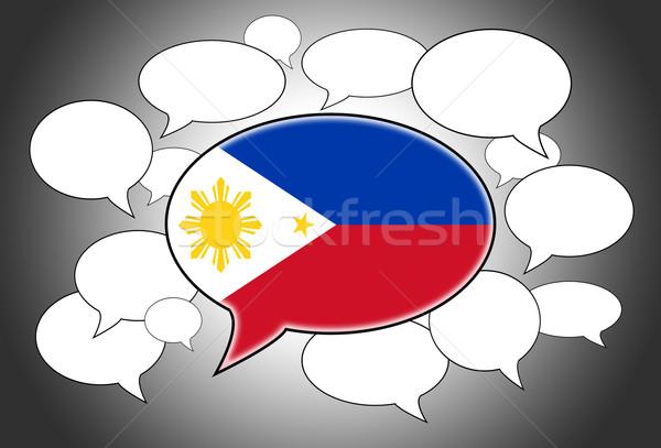通信 音声クラウド 音声 フィリピン 抽象的な にログイン ストックフォト © michaklootwijk