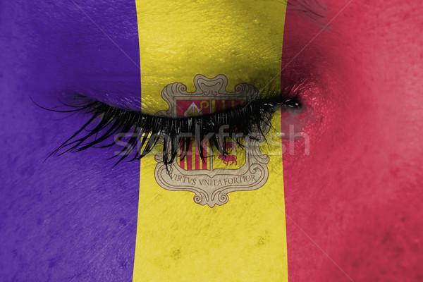 Mujeres ojo primer plano azul lacrimógenos dolor Foto stock © michaklootwijk