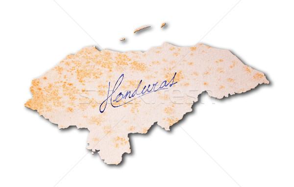 старой бумаги почерк Гондурас синий чернила бумаги Сток-фото © michaklootwijk