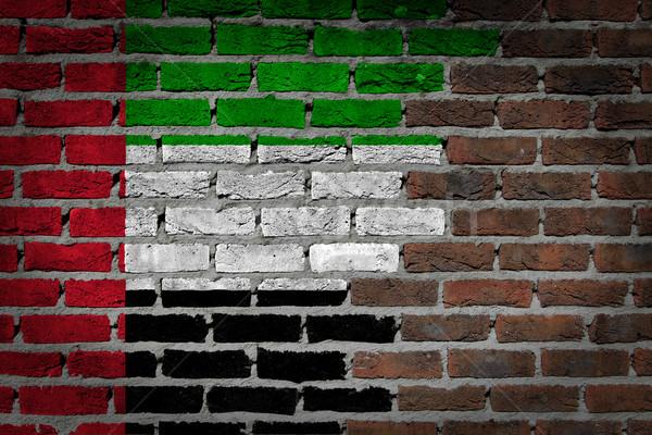 Dark brick wall - UAE Stock photo © michaklootwijk